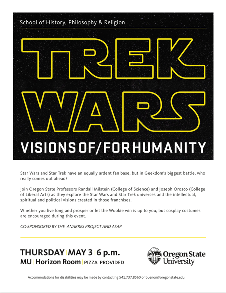 Oregon State University event pits Star Wars against Star