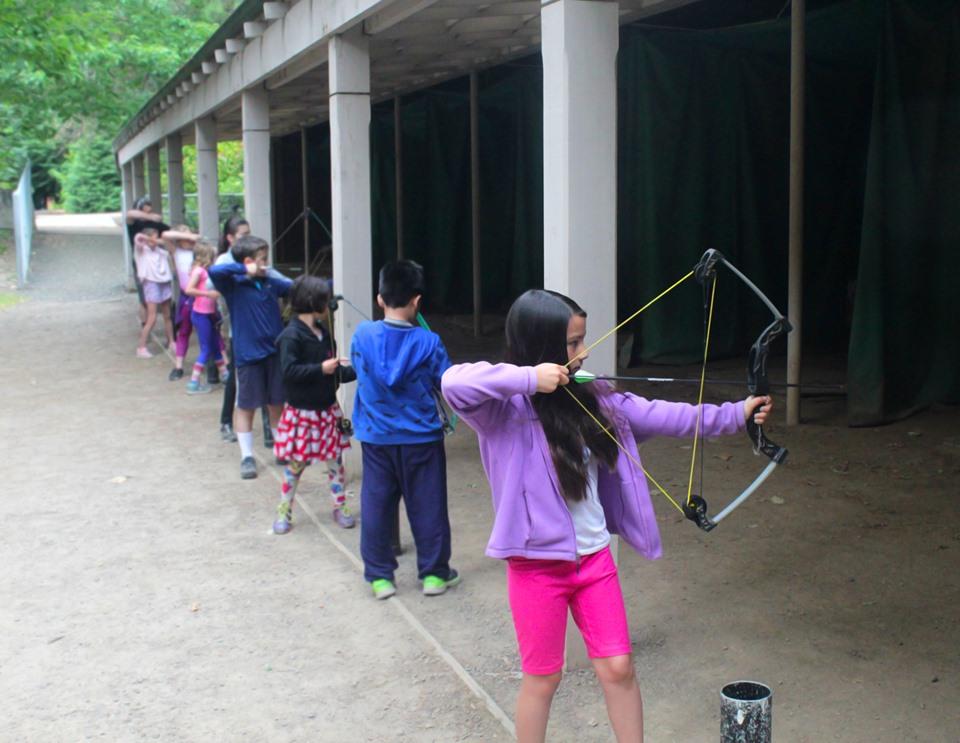 KidSpirit Campers Doing Archery