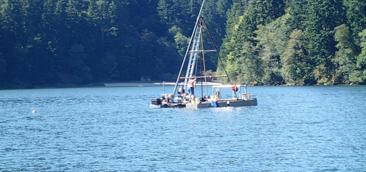 image of researchers at Loon Lake