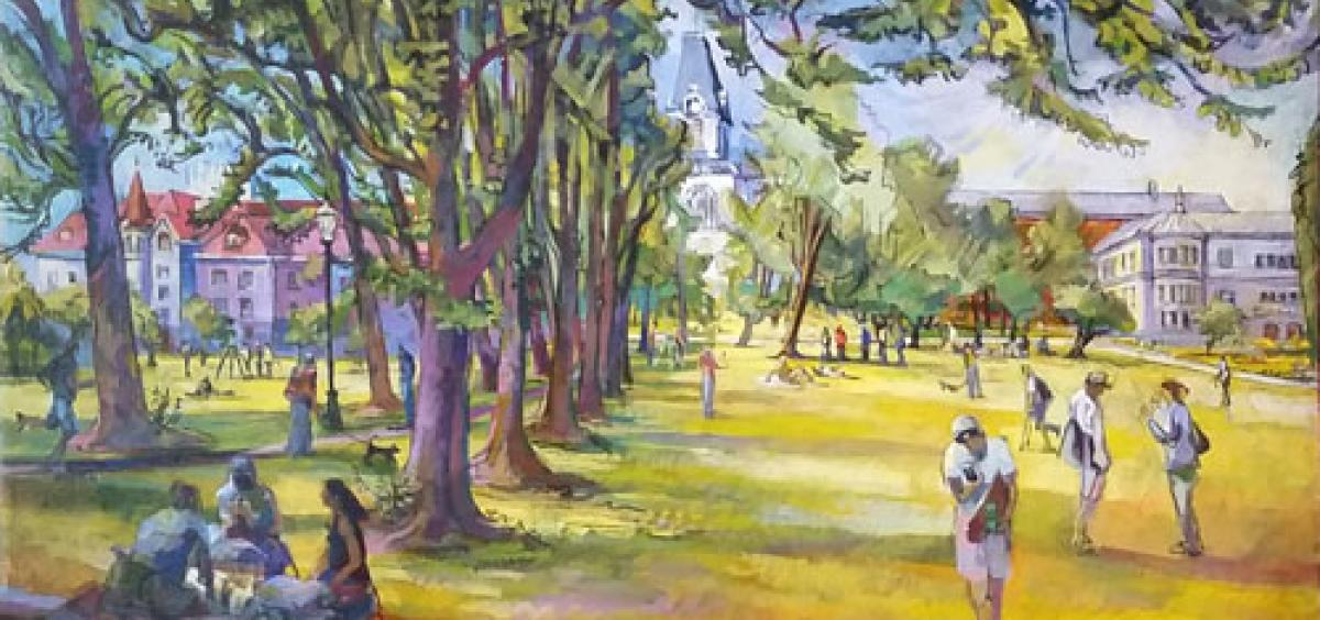 """Avenue of Elms,"" artwork by Erik Sandgren"