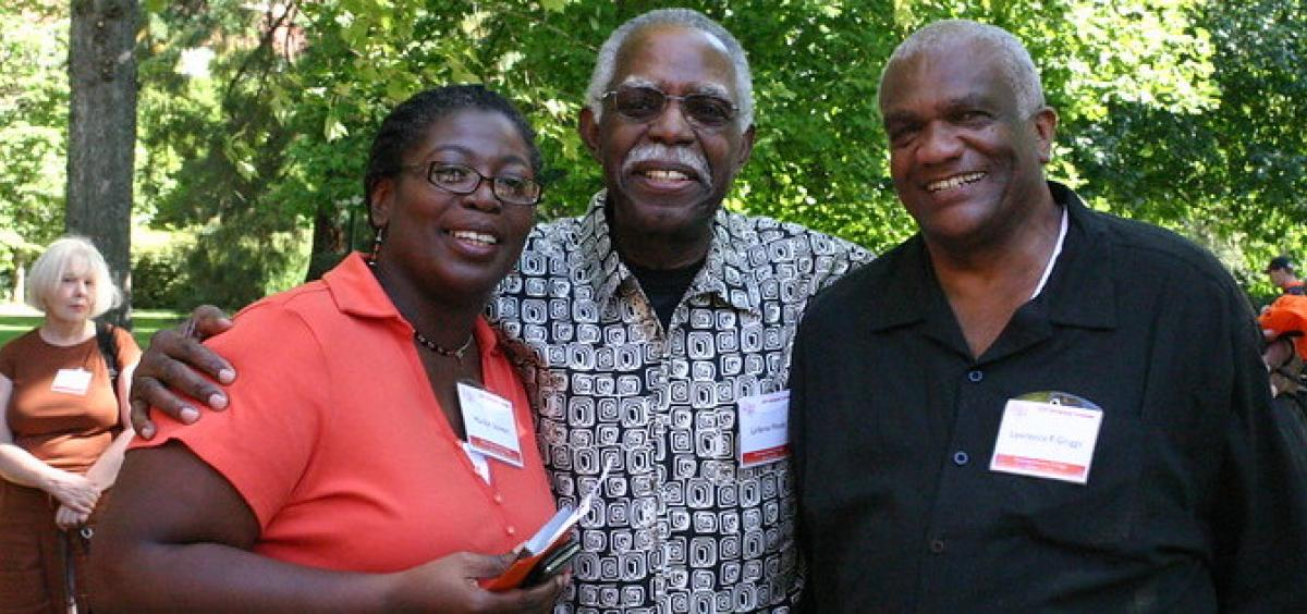 Left to right: Marilyn Stewart, LaVerne Woods and Larry Griggs