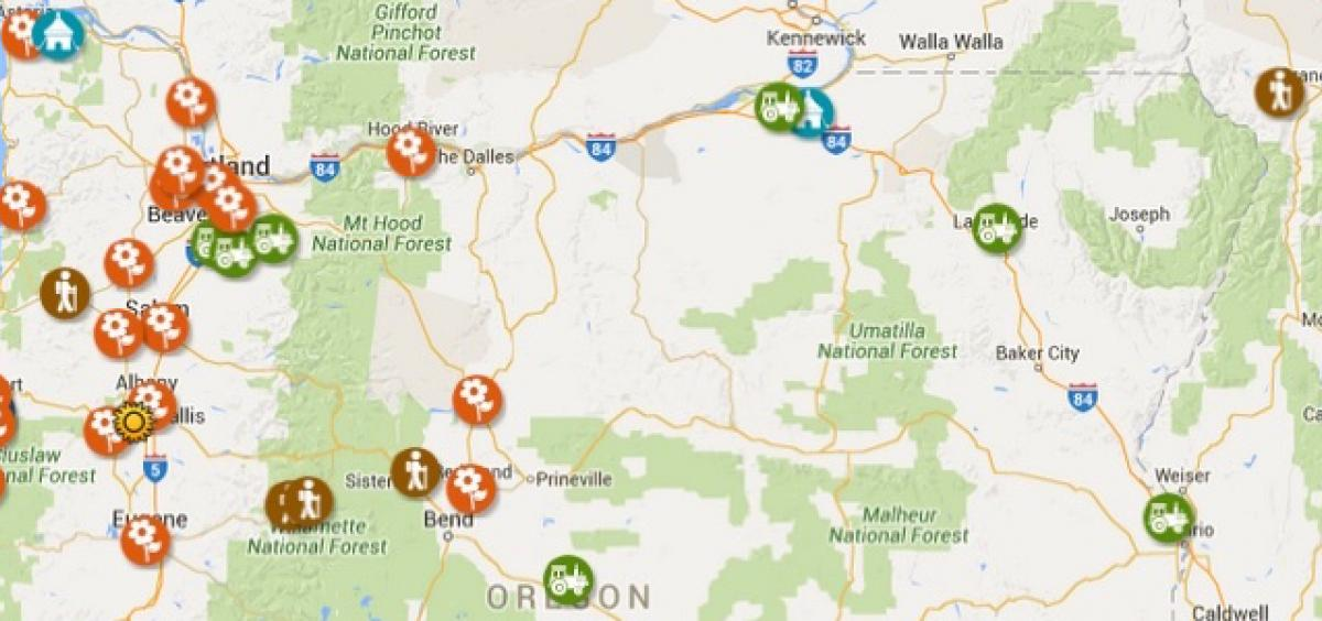 Online map offers opportunities to explore gardens farms and