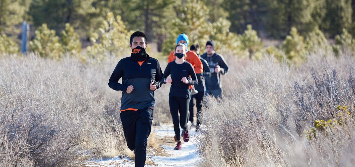 The OSU-Cascades Trail Running Club practices three times a week.