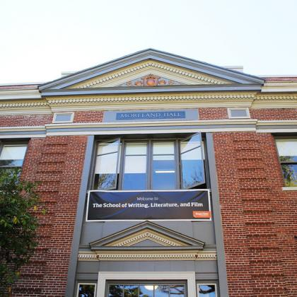 Image of facade of Moreland Hall, the home to the School of Writing, Literature and Film at Oregon State.