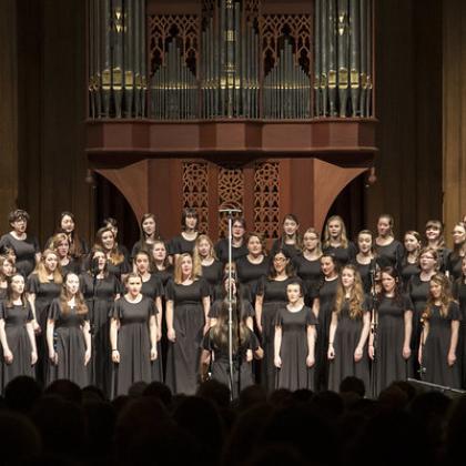 OSU's Bella Voce choir in performance