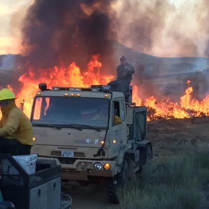 RFPA members responding to the 2016 Cherry Road fire in Jordan Valley, Oregon.