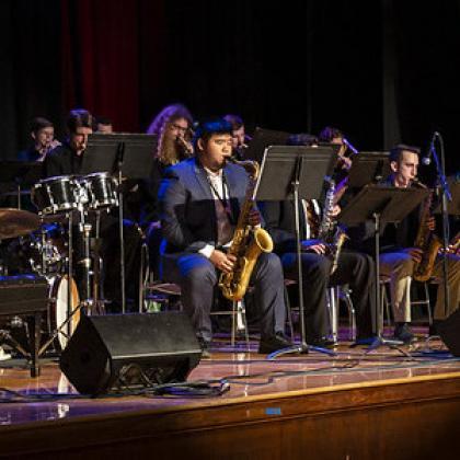 Jazz Ensemble onstage