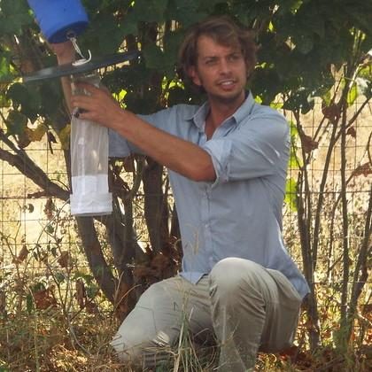 Using a mosquito trap in South Africa