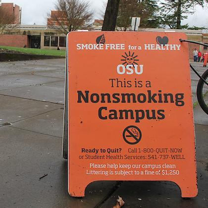 "Generic image of ""Nonsmoking Campus"" sign"