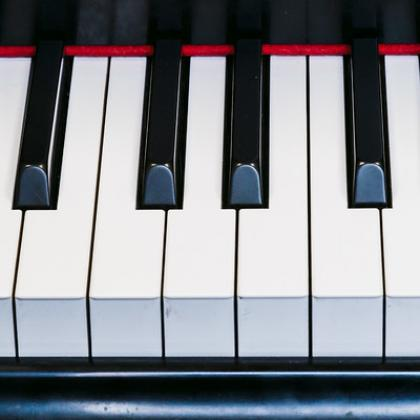 Stock image of piano