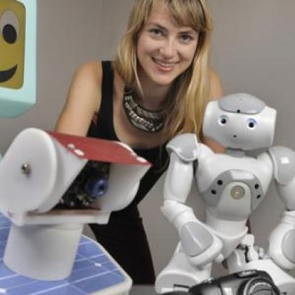Heather Knight and robots