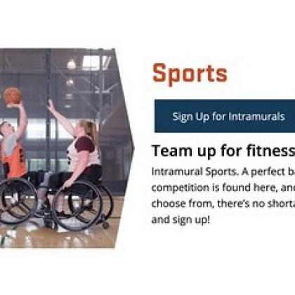 Screenshot from OSU Rec Sports homepage