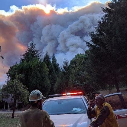 Slater fire, pic by Will Harling