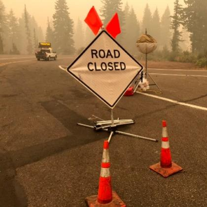 Road closure pic by ODOT