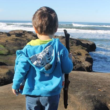 Toddler at beach