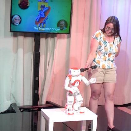 Naomi Fitter and Jon the Robot