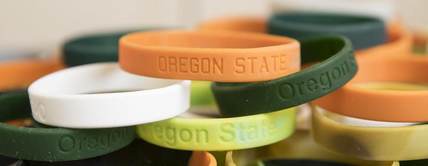 silicone wristbands developed in Kim Anderson's lab at Oregon State University
